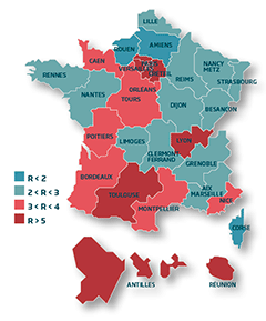 carte France logement étudiant en France