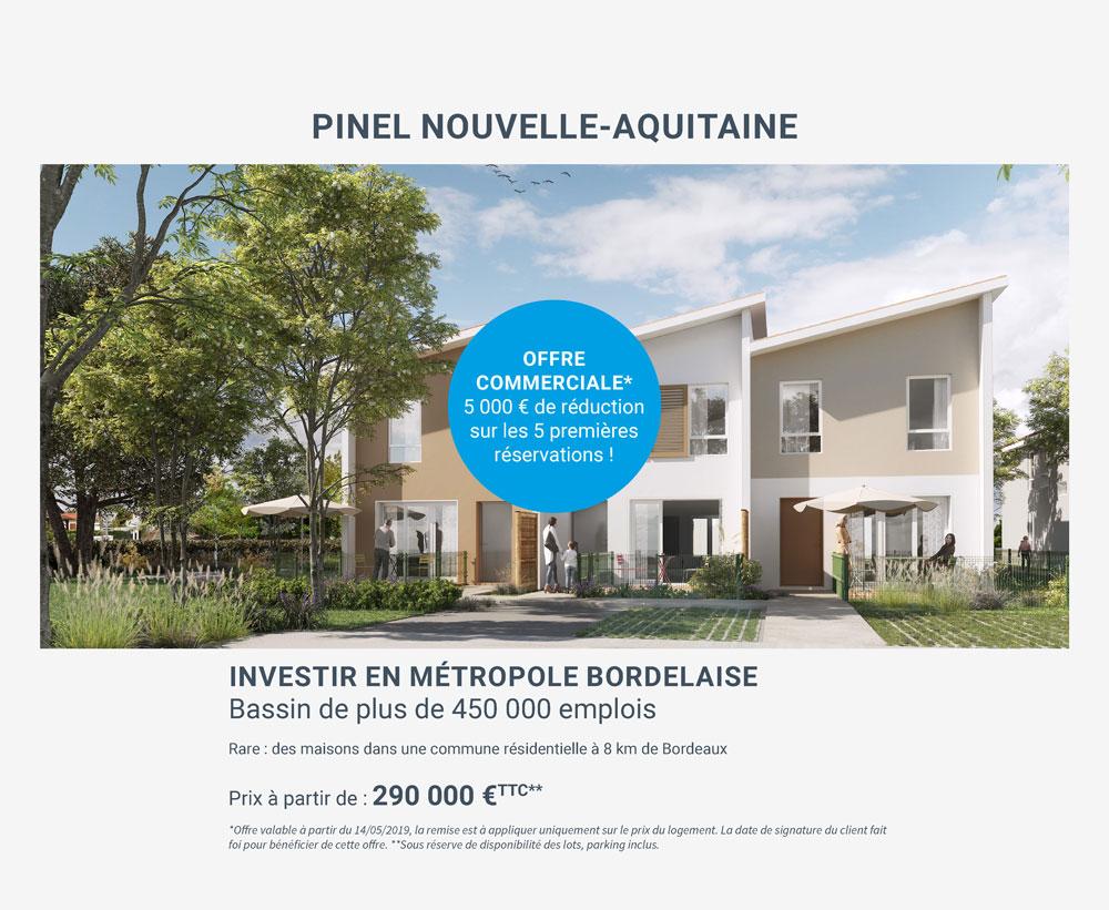 investir dans des maisons en Pinel près de Bordeaux