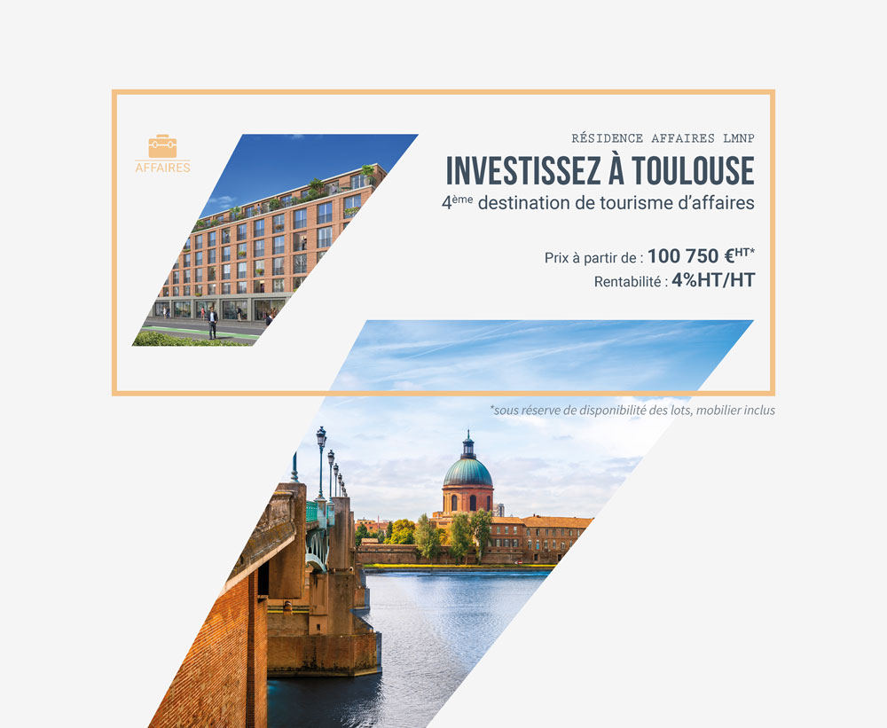 Investir en residence-affaires à Toulouse avec iSelection