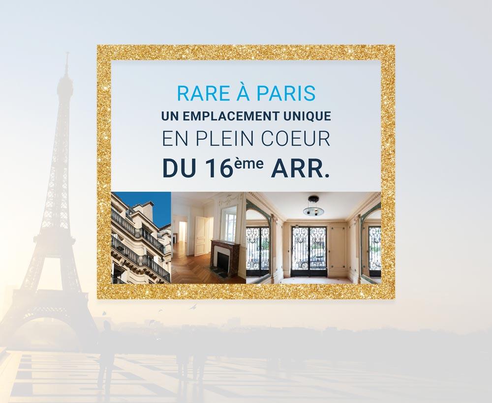 Rare à Paris : investir au coeur du 16e arrondissement