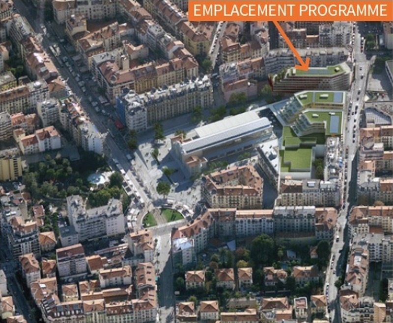 Vue aerienne programme immobilier Nice