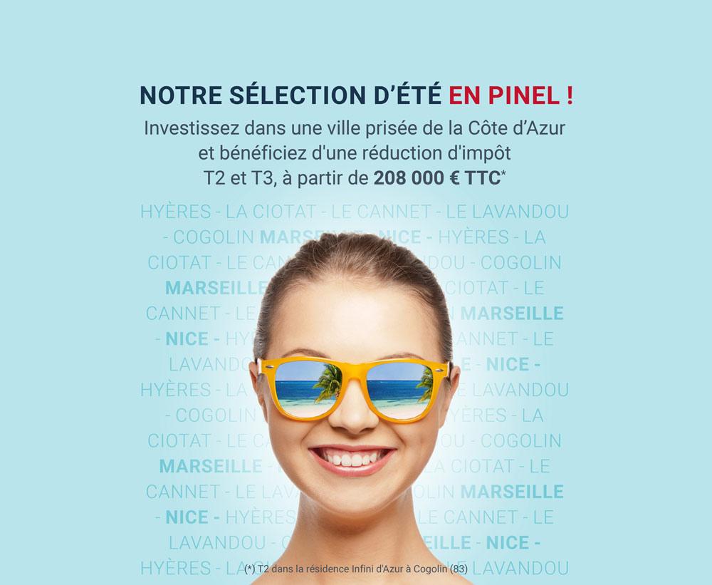 Notre selection d'été Pinel Cote d'Azur
