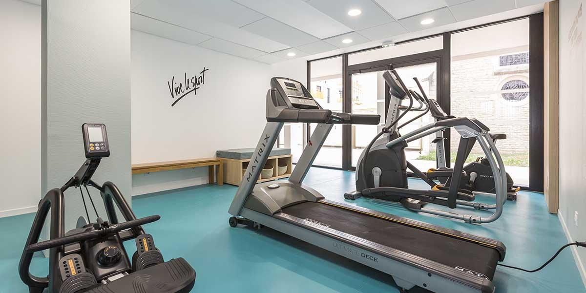 résidence étudiante Dijon Campus Trinité salle-fitness