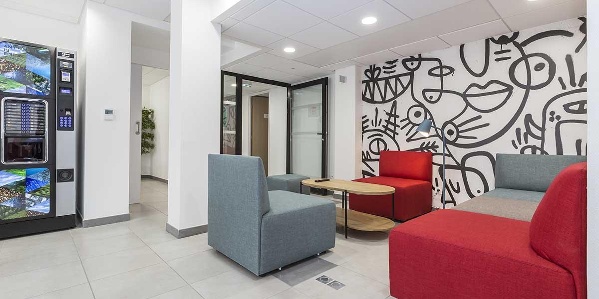 Résidence étudiante Dijon Campus Trinité salle-detente